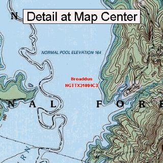 USGS Topographic Quadrangle Map   Broaddus, Texas (Folded