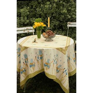 Iris Blue/ Green Tablecloth (59 in. Square)
