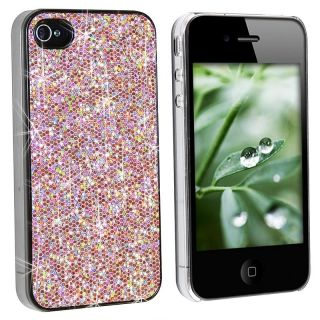 Pink Bling Case/ Screen Protector for Apple iPhone 4