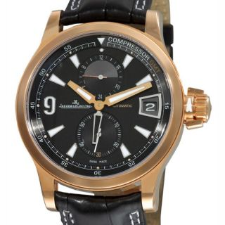 Jaeger LeCoultre Mens Master Compressor GMT Rose Gold Watch