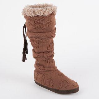 Muk Luks Winona Texture Cuff Slipper Boot