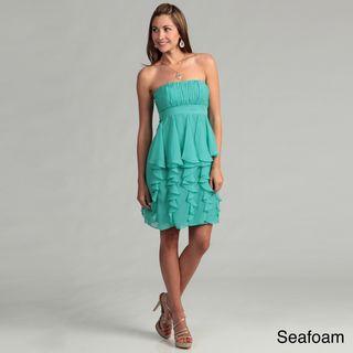 Hailey Adrianna Papell Shired Ruffled Dress