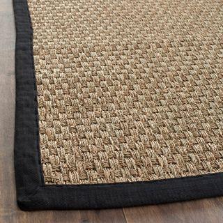 Hand woven Sisal Natural/ Black Seagrass Rug (9 x 12)