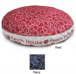 Round 26 inch Rope Beach House Dog Bed