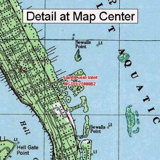 USGS Topographic Quadrangle Map   Saint Lucie Inlet