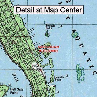 USGS Topographic Quadrangle Map   Saint Lucie Inlet
