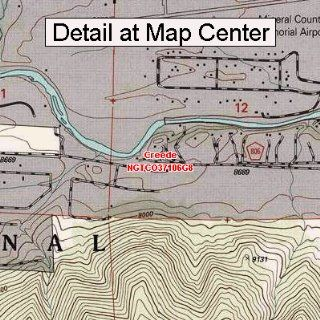 USGS Topographic Quadrangle Map   Creede, Colorado (Folded
