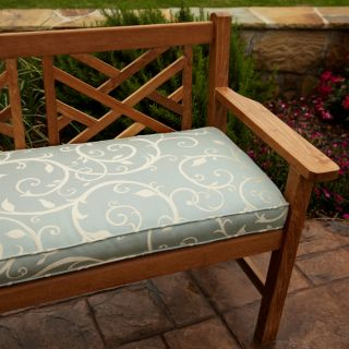 Clara Blue 60 inch Outdoor Sunbrella? Fabric Bench Cushion