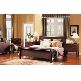 Abbyson Living Novara 5 piece Queen Sleigh Bedroom Set
