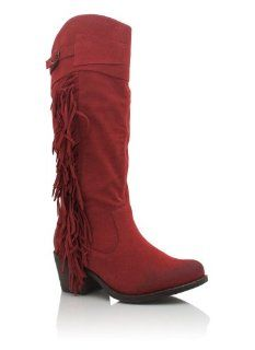 Suede Fringe Cowgirl Boots: Shoes