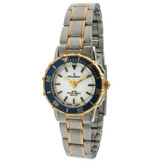 Peugeot Womens Blue Bezel Two tone Watch