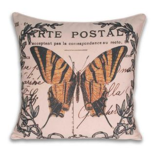 Lorenz French Yellow Butterfly Pillow (20x20)