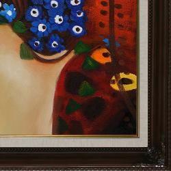 Gustav Klimt Sea Serpents IV Framed Canvas Art