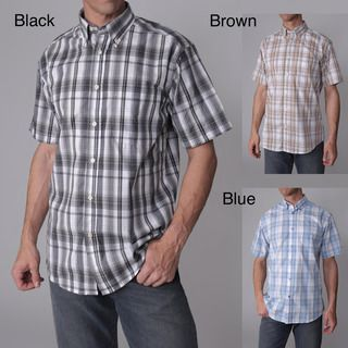 Gioberti by Boston Traveler Mens Checkered Short sleeve Shirt