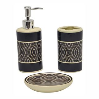 Carino Espresso 3 piece Bathroom Accessory Set