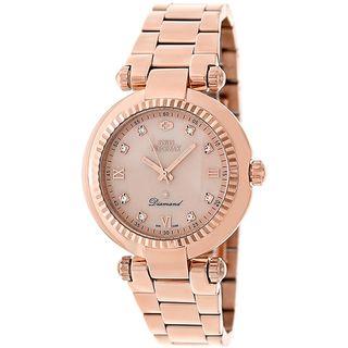 Swiss Precimax Womens Rose gold Steel Avant Diamond Watch