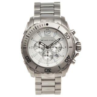 Michael Kors Mens Stainless Steel Drake Chronograph Watch
