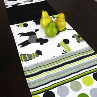Doggy Day Lime Reversible Pieced 13x72 inch Table Runner