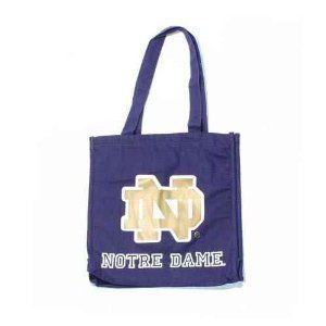 Notre Dame Fighting Irish 2 Handle Canvas Tote Bag Sports