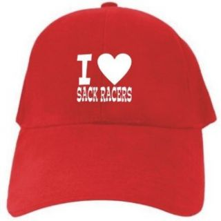 I LOVE Sack Racers Red Baseball Cap Unisex Clothing