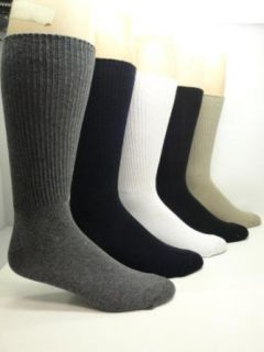 Cotton Non elastic Socks (2 Pairs) (Black), Shoes size 8 12 Clothing