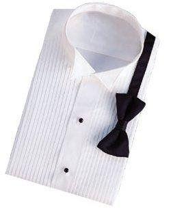 Womens Tuxedo Shirt   Poly/Cotton Wing Construction (Size