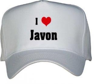 I Love/Heart Javon White Hat / Baseball Cap Clothing