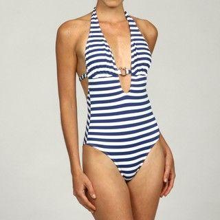 RYGY Womens Sport Bossa Nova Marino Stripe 1 piece Swimsuit