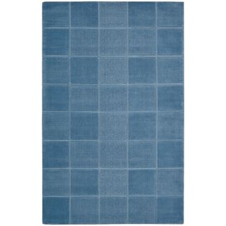 Hand tufted Westport Blue Wool Rug (8 x 106)