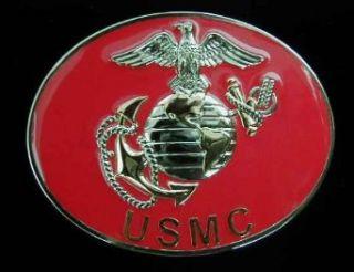 USMC Gold/Silver Anchor & Globe Belt Buckle Clothing
