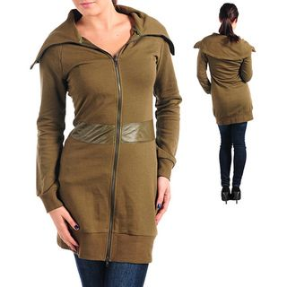 Stanzino Womens Olive Knee length Jacket