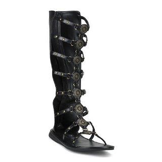 Mens Roman Gladiator Sandals in BLACK Shoes