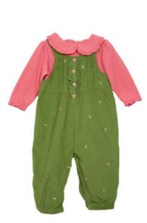 NWT BT Kids Baby Girl 2 pc cord overalls set 6 9 months