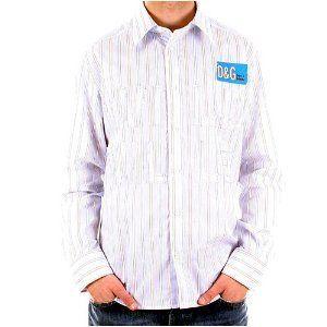 D&G, Dolce & Gabbana striped long sleeve shirt. DGM2124