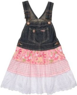 OshKosh BGosh 3 Tiered Denim Jumper   Pink Floral