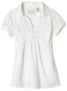Guess Girls 7 16 Ruffle Front Shirt,White,XL(16) Clothing