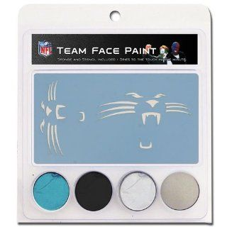 NFL Carolina Panthers Face Paint with Stencils Sports