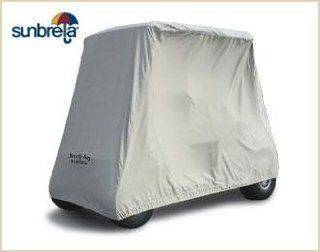 Gray Sunbrella 2 Passenger Golf Cart Storage Cover by