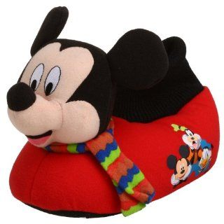 Toddler/Little Kid Mickey Slipper,Red,7/8 M US Toddler Shoes