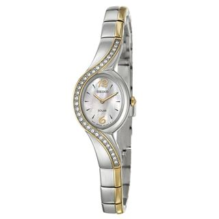 Seiko Womens Yellow gold Plated Steel Solar Watch