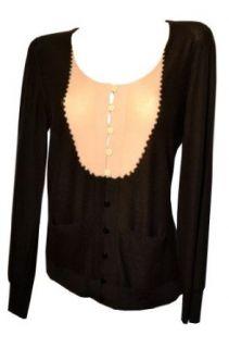 Sonia Rykiel Womens Sweaters Black Cashmere Cardigan