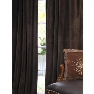 Signature Java Velvet 96 inch Blackout Curtain Panel