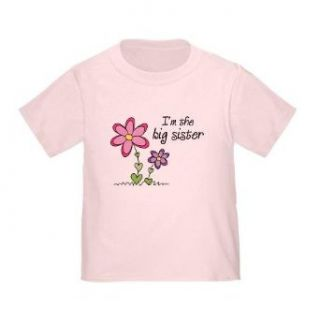 Big Sister Flowers Toddler T shirt   Size 2T Clothing