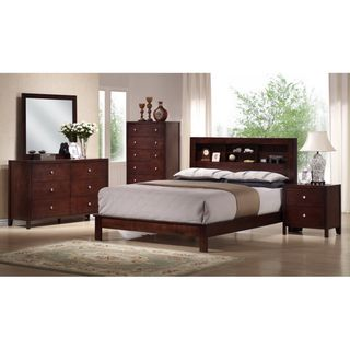 Montana King 5 piece Mahogany Brown Wood Modern Bedroom Set