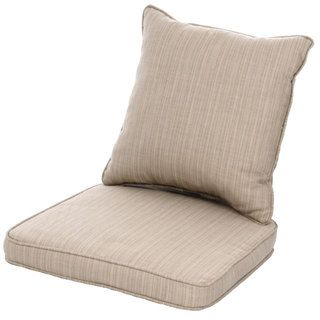 Clara Wicker Outdoor Dining Chair Cushion/ Back Throw Pillow with