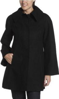 Jessica Simpson Womens A Line Coat,Black,X Small