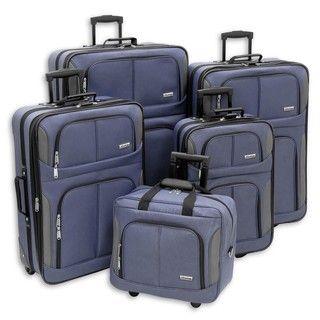 Advantage Twilight Streamline 5 piece Luggage Set