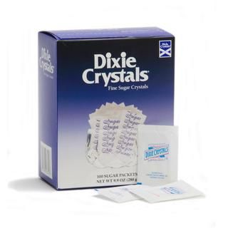 Dixie Crystals Pure Cane Sugar Packets (Case of 2,000)