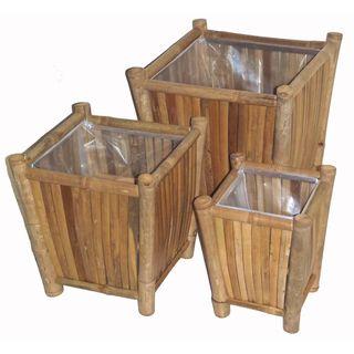 Bamboo Three Piece Planter Set (Vietnam)
