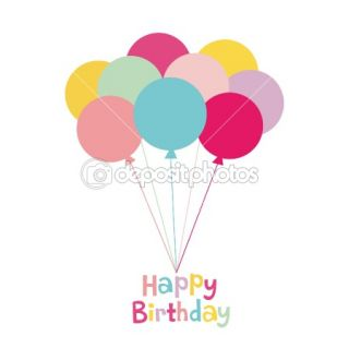 Balloon birthday card design  Stock Vector © jinru huang #2129821